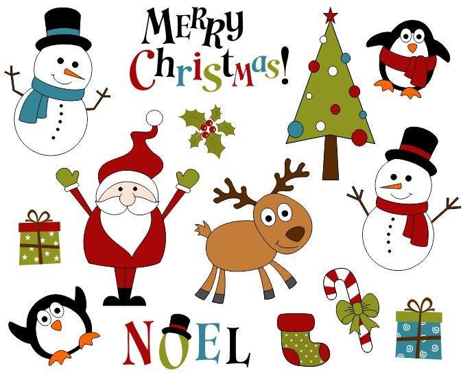 Cute christmas decoration clip art xmas scrapbook clipart for Cute christmas decorations