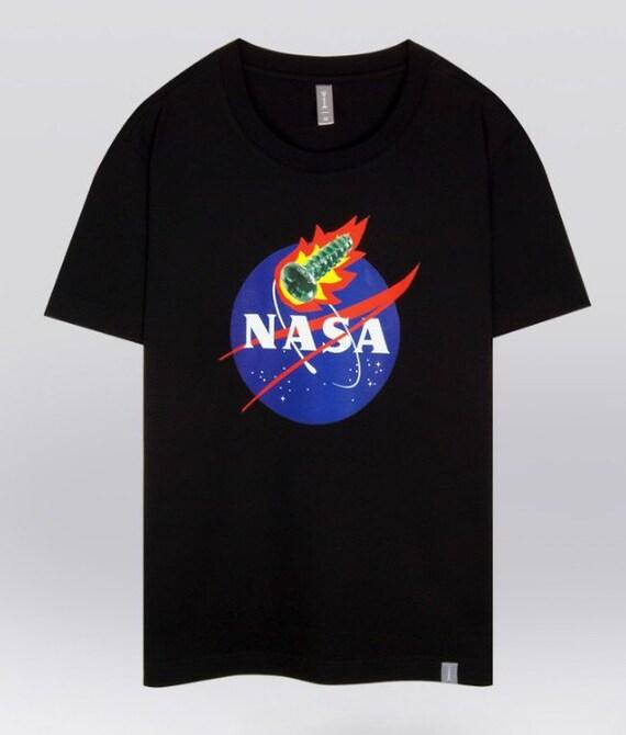 Nasa T Shirt Funny Graphic T Shirts Crew Neck Tee S M L XL