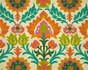 SALE - 3 Yards Waverly Sun N Shade Santa Maria Mimosa - Outdoor Floral Damask Fabric - 677665