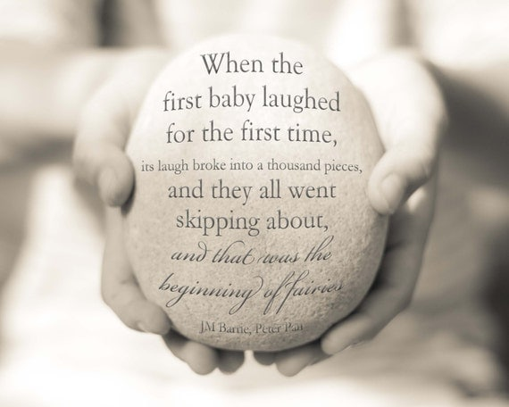 Items Similar To New Baby Gift, Peter Pan Quote, Baby