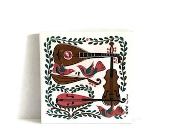 Vintage Mid Century Robert darr Wert Ceramic Tile Trivet