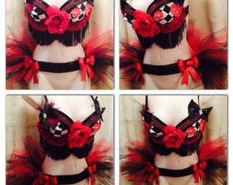 Lolita Rave Bra and Bustle  -- Size 34C -- Original Electronic Couture