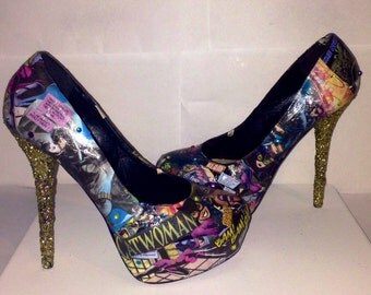 Custom made Catwoman shoes