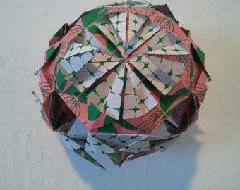 kusudama ball origami paper deco wedding, baby shower,