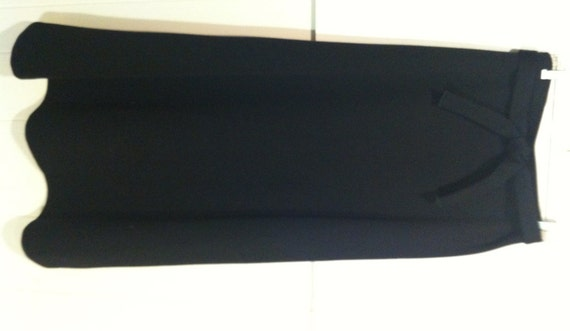 rrrruss black knit 70s maxi skirt medium by