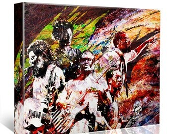 TV on the Radio Canvas, TVOTR Original Painting Canvas Art Print