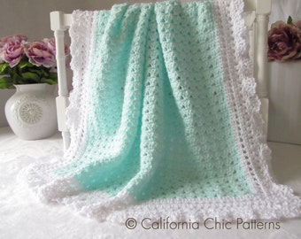 Crochet Baby Blanket PATTERN 41 - Angel Series - Crochet Blanket Pattern 41 - Instant Download PDF Pattern