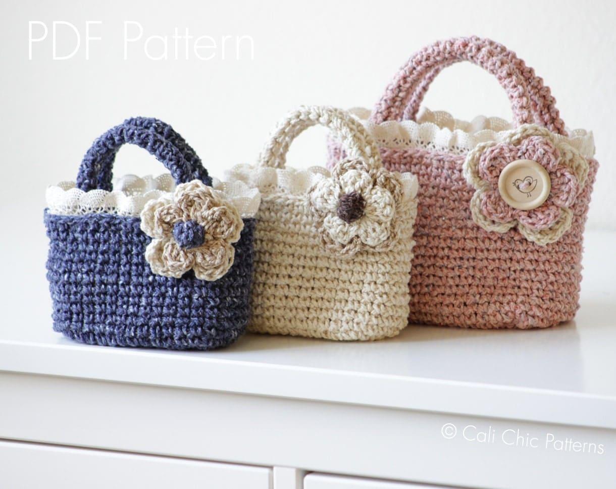 Crochet Tote Pattern 219 Summer Tweed Mini Tote Crochet