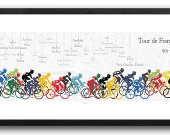 TOUR DE FRANCE 2014 Peloton Print