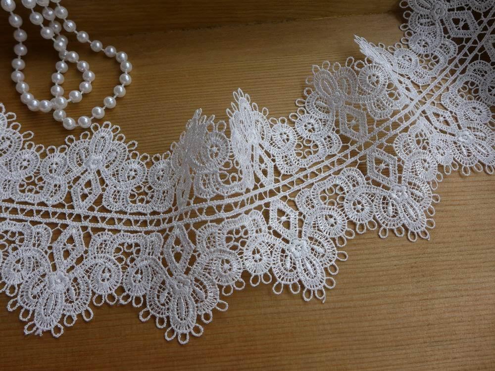 New Venise Lace Trim White Scalloped Lace Victorian Lace
