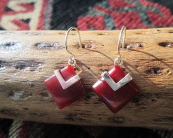 Carnelian and Sterling Earrings