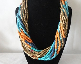 Single Twisted Strands necklace Earrings Set.