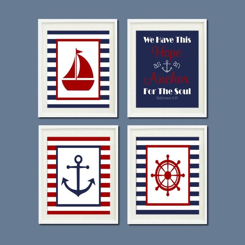 Nautical Decor Nautical Nursery Nautical Baby by