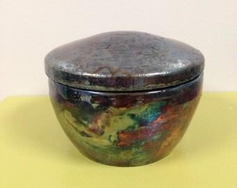 Raku Fired Luster Jar