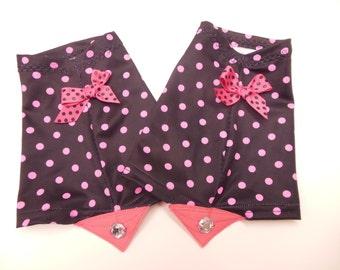Sophisticated Mama - Black/ Pink Polka Dots