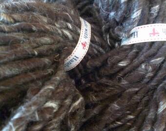 Shetland Midnight Silk Handspun Super Chunky Yarn 100g