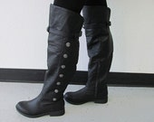 Men's Landon Medieval Boots, Renaissance Boots, Boots, Knee High Boots, Steampunk Boots, Costume Boots, Stage Boots
