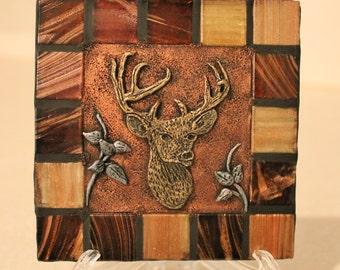 Deer/ Buck  /Hunting / Wilidlife/ Outdoors Decorative Ceramic Tile / Home Decor