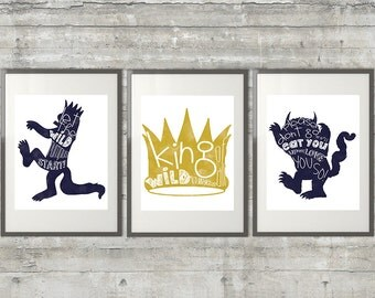 Where The Wild Things Are Print - Set of 3 11x14 Prints