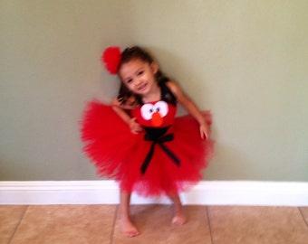 Elmo inspired  tutu dress