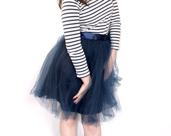 Dark Blue Tulle Skirt Hollywood (more colors available)