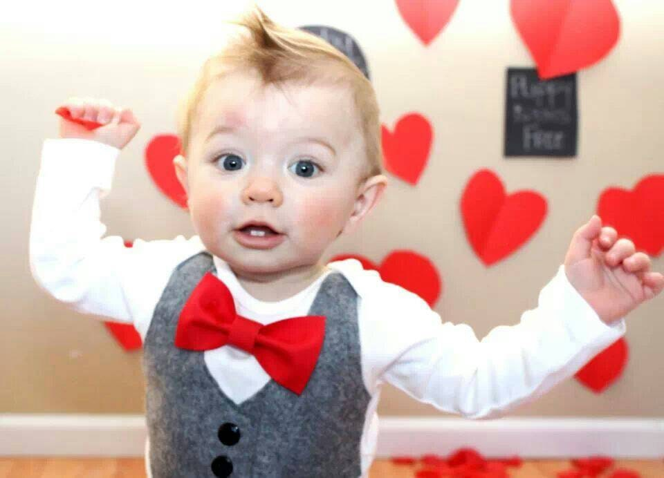 Baby boy clothes baby bow tie with vest first valentines for Baby shirt and bow tie