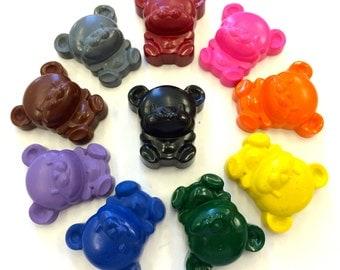 10 Zoo Jungle Bear  Crayons -  Birthday Party Favors