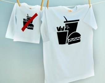 Junk/No Junk T Shirt Twinset for Father and Son or Daughter