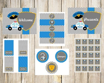 Police Printable Birthday Party Package