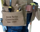 Tool Belt Engraved Dad, Husband Father's Day Gift Customized Monogrammed Leather Personalized (024480)
