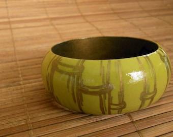 Bamboo Bangle (Warm Gold)