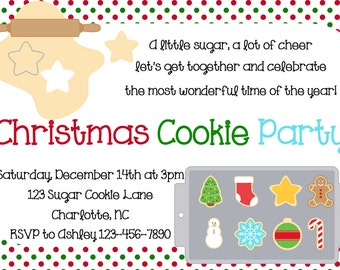 Christmas Cookie Party invitation