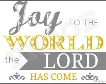 Joy to the World 5x7 Christmas Printable