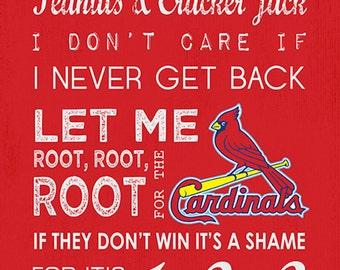 St louis cardinals take me out to the ball game 10x20 subway art