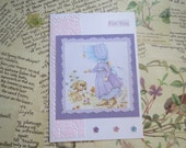For You.....Happy Birthday.....Nostalgic Handcrafted Card....Vintage Paper....