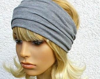 Headband / hair band Jersey light grey marl