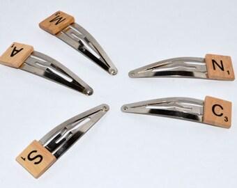 Wooden Scrabble Tile Hairclip