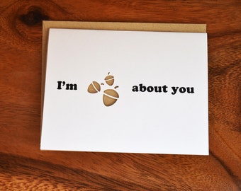 Die Cut I'm Nuts About You Card