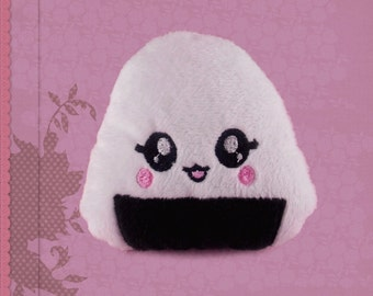 Onigiri plush cuddly sushi plushie kawaii happy