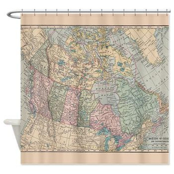 home decor fabric online canada fabric map shower curtain vintage map of canada home 12232