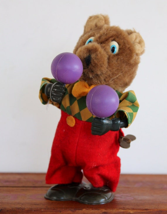 Wind Up Dancing Toy Bear With Maracas Mechanical Russ Berrie