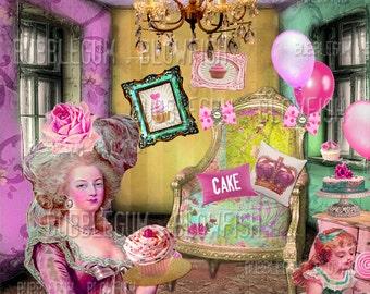 Marie Antoinette Let ThEm EaT CaKe   Digital art Download