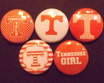 "University of Tennessee Volunteers 1"" Round  Buttons"