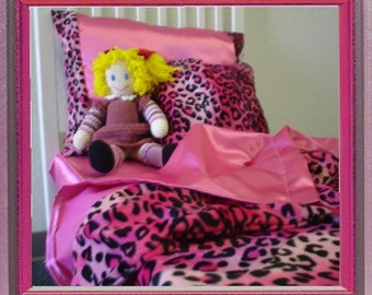 Leopard Print Toddler Bedding Set