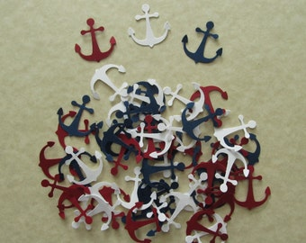 50 Cardstock Anchor Martha Stewart Punches in 3 Colours for Scrapbooking, Cardmaking and other Paper Crafts