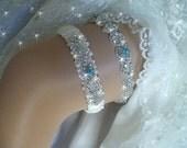 Items Similar To Wedding Garters Etsy Garter Meaning Blue Garter Set Something Blue Garter