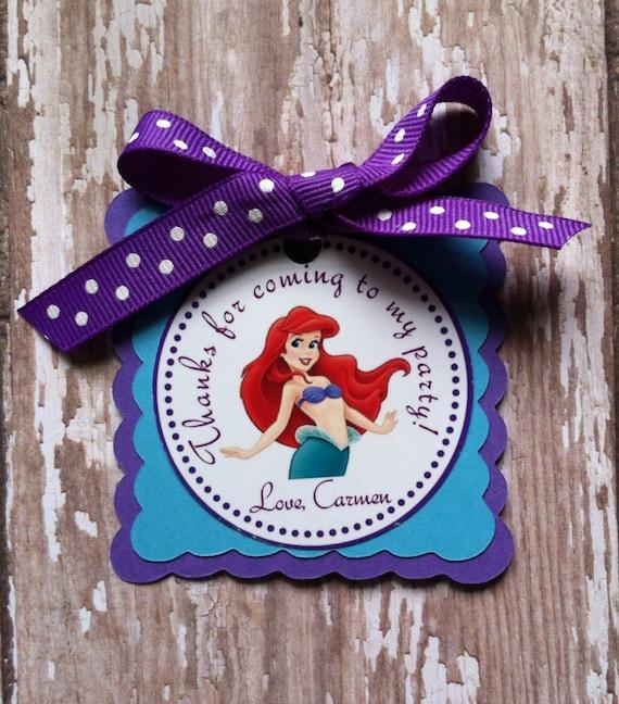 Wedding Favor Ideas Little Mermaid: Little Mermaid Birthday Favor Tags Little Mermaid Birthday