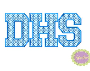 DHS Motif Stitch Embroidery Design