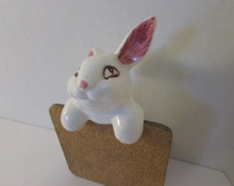 Vintage Ceramic Rabbit Flower Pot Decoration