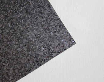 Glitter Fabric Material Gunmetal Gray 8X10 sheet